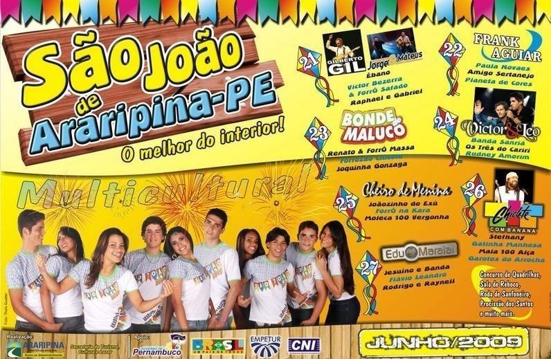 Cartaz divulgado pela Prefeitura Municipal de Araripina
