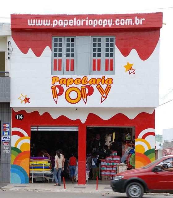 Fachada da Papelaria Popy em Araripina