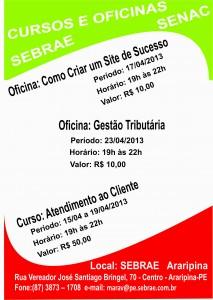 Cartaz Cursos SENAC
