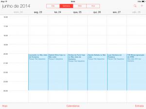 Calendário do São João no seu iPhone