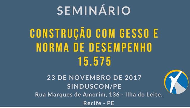 Sebrae promove seminário sobre Construção com Gesso
