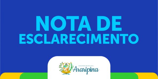 Prefeitura de Araripina emite Nota de Esclarecimento sobre Contribuição para Iluminação Pública