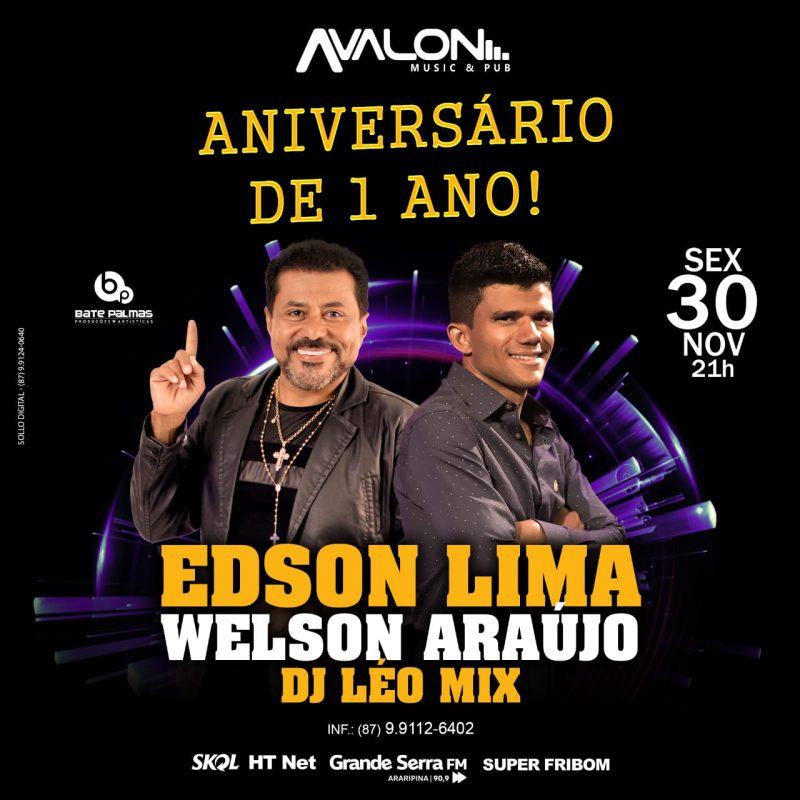 Avalon Music Pub comemora seu aniversário de um ano com Edson Lima e Banda