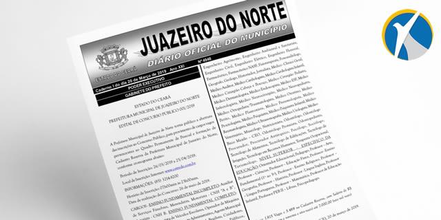 Prefeitura de Juazeiro abre concurso público; inscrições iniciam próximo dia 26